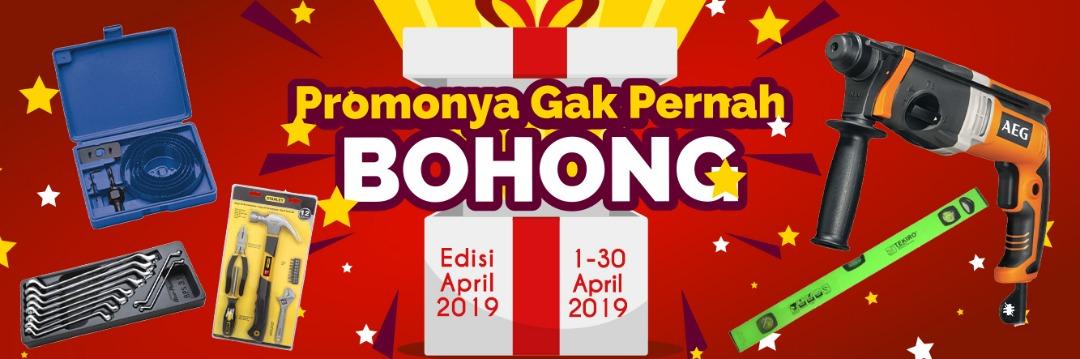 DISKONNYA GAK PERNAH BOHONG! Periode 1 - 30 April 2019. STOCK PROMOSI BERLAKU UNTUK TRANSAKSI ONLINE.