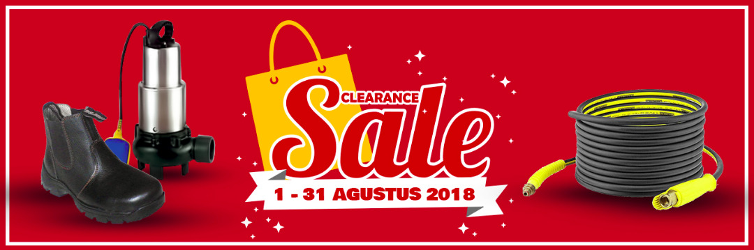 Clearance Sale Selama Bulan Agustus 2018 - PROMO HANYA BERLAKU UNTUK PEMBELIAN ONLINE -