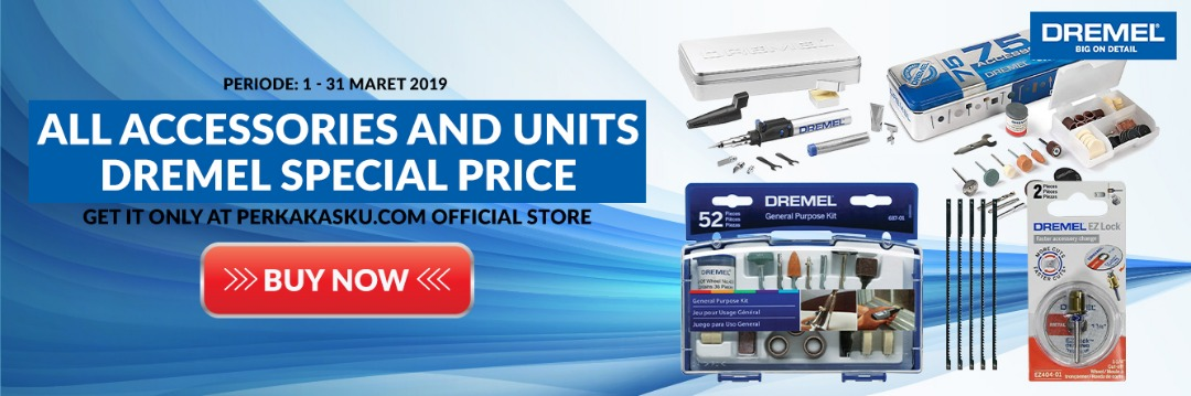 SPECIAL PRICE!!! All Unit and Accessories Dremel. 8 - 28 Februari 2019. PROMOSI HANYA BERLAKU UNTUK TRANSAKSI ONLINE