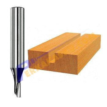 "KNK Straight Bit Two Flutes 1/4"" x 6mm Mata Router / Trimmer"