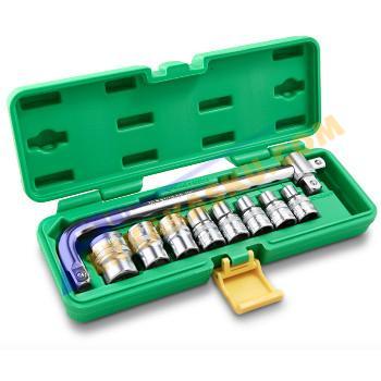 """Tekiro 10PCS-12PT - Box Plastik Kunci Sok 1/2"""" Set"""